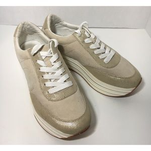 Zara Basic Collection Platform Sneakers Beige 39